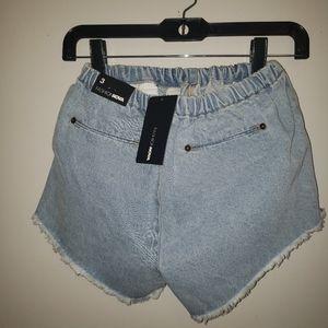 NWT Fashion Nova blue Washed Shorts Size 3